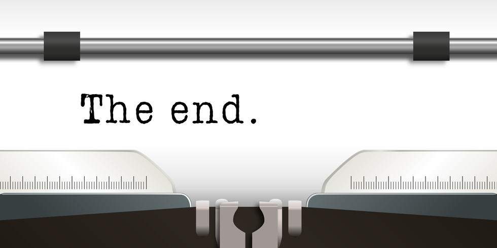 Machine  crire - crivain - The end