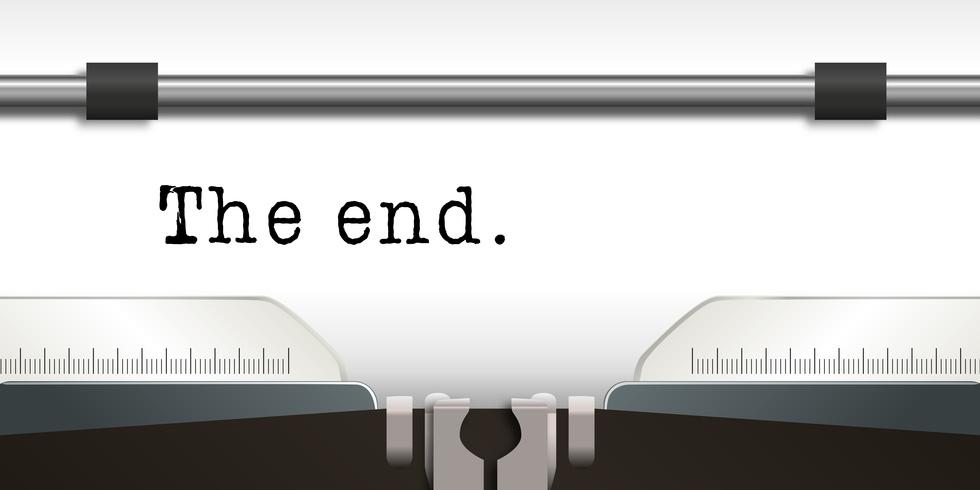 Machine  crire - crivain - The end